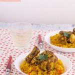 arroz con costillas seco