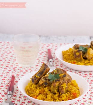 arroz con costillas seco