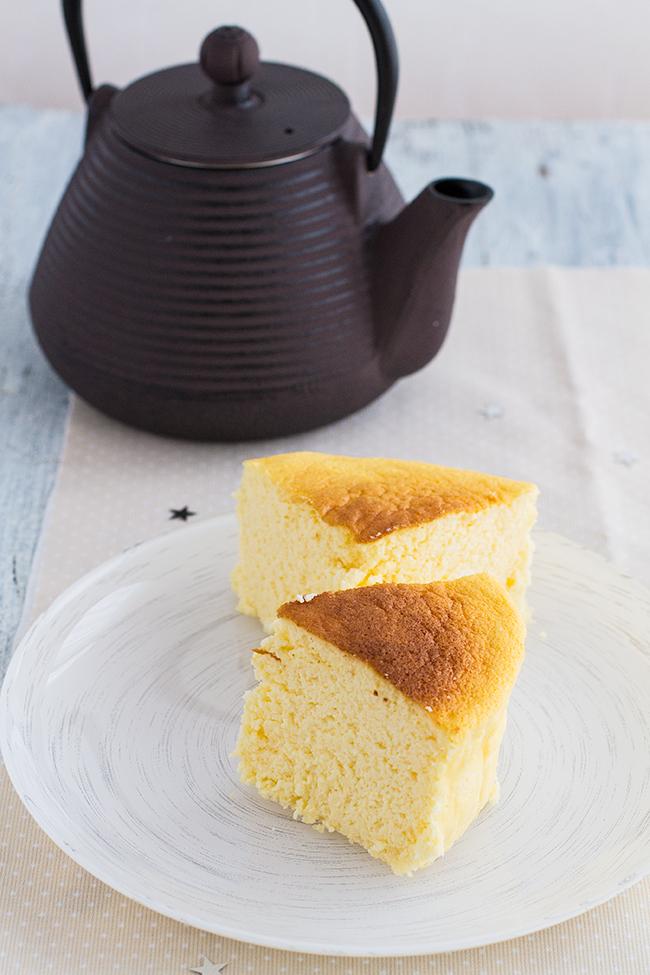 tarta de queso japonesa o pastel de queso japones