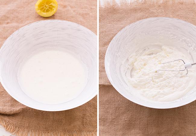 paso a paso crema agria