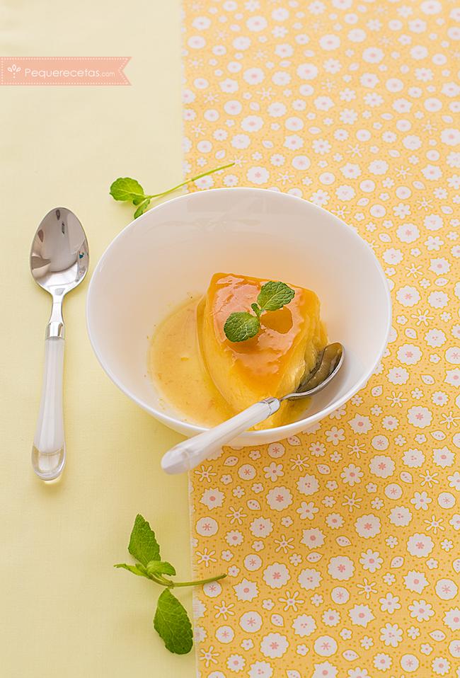 flan de naranja receta paso a paso