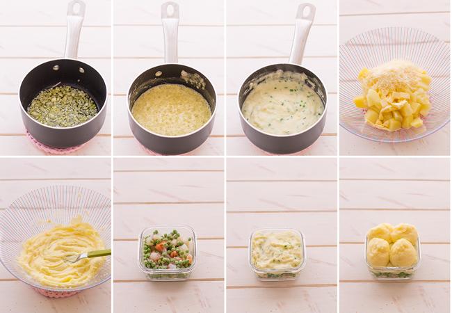 paso a paso pastel de pescado con puré de patatas