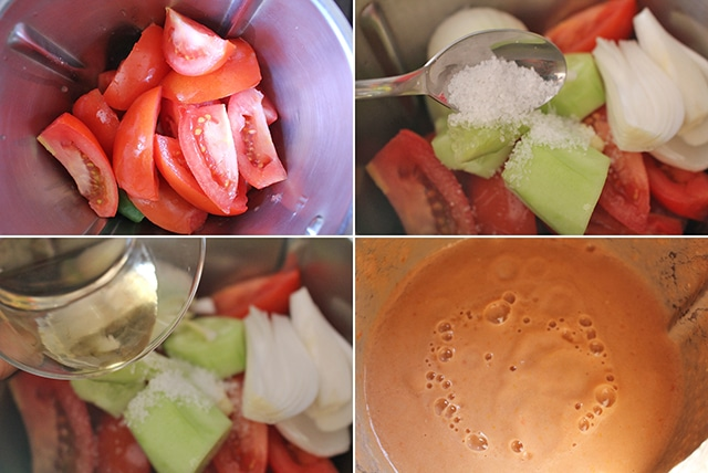 Gazpacho andaluz, receta fácil