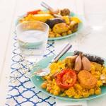 arroz al horno, ración