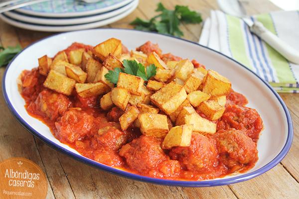 Albondigas caseras, receta de albóndigas en salsa