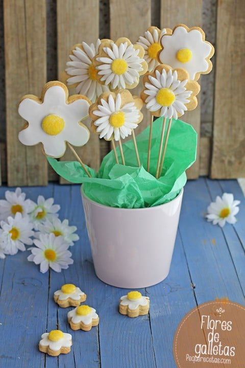 Galletas De Flores Decoradas Con Fondant