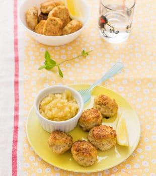 Albóndigas de pollo con manzana
