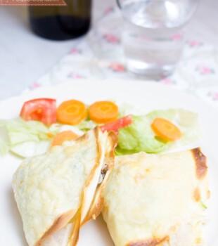 Crepes de pollo y puerro