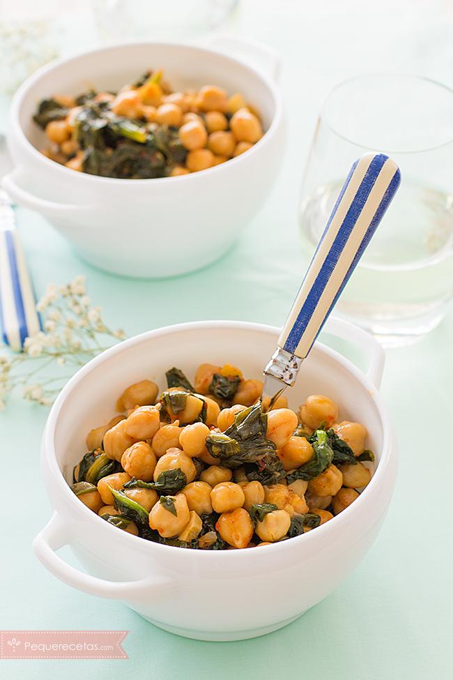 Espinacas con garbanzos recetas con espinacas y legumbres for Maneras de cocinar espinacas