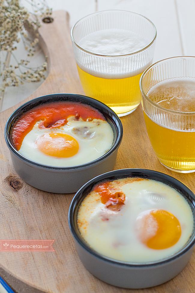 huevos al plato receta