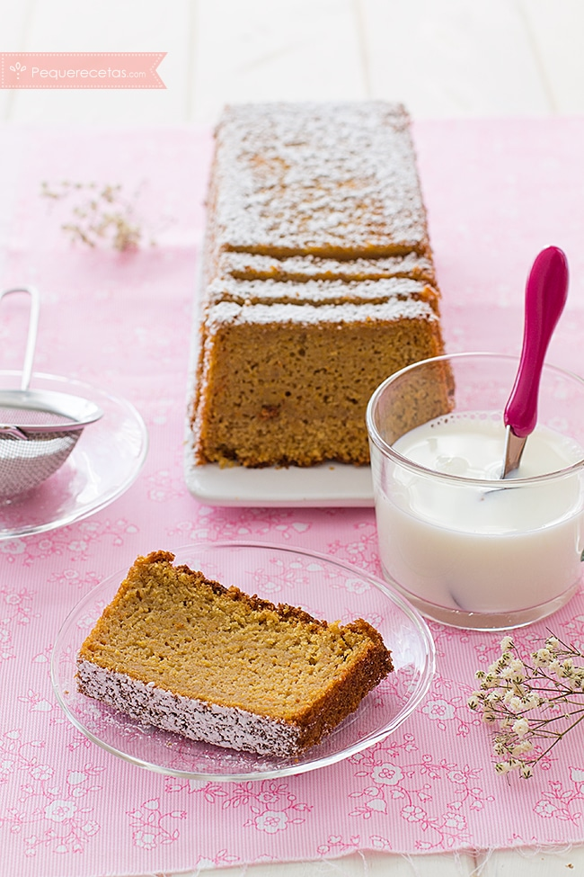 pastel de calabaza, corte