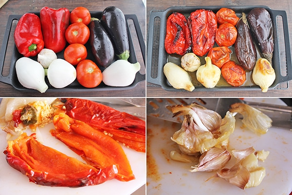 Escalivada de verduras ingredientes