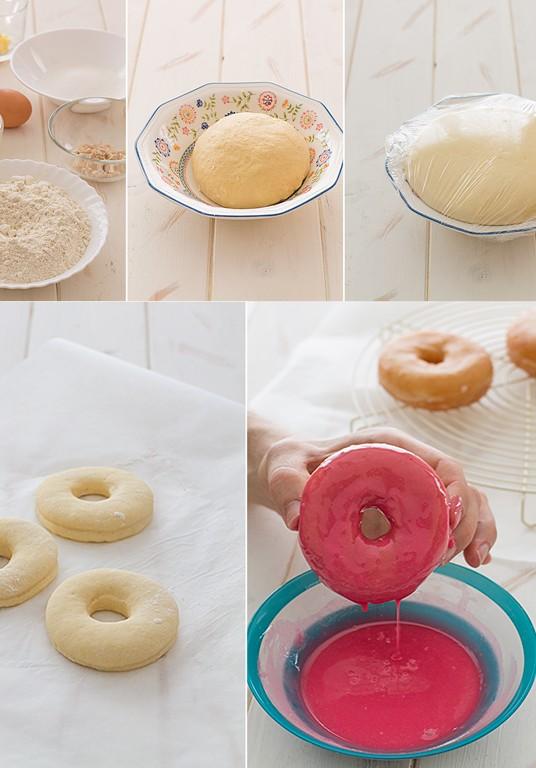 receta donuts glaseados