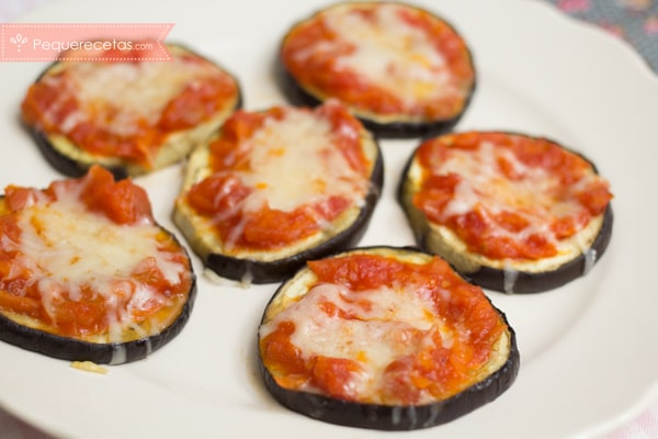 Pizzas de berenjena
