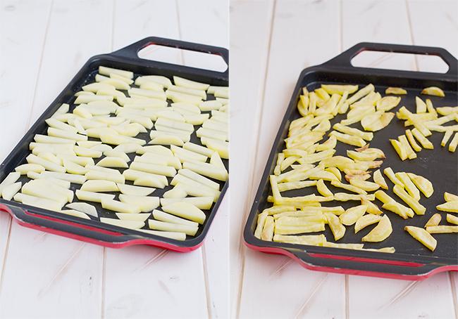 paso a paso patatas fritas al horno