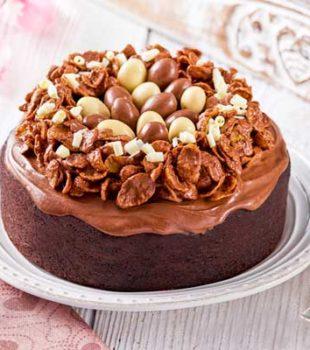 pastel de chocolate huevos chocolate