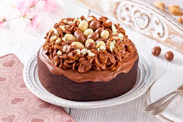 Pastel De Chocolate Con Cobertura Y Decorado Delicioso