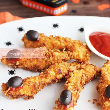 Recetas fáciles para halloween: fingers de pollo