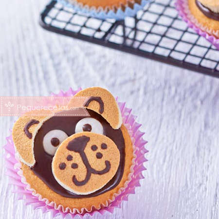 Cupcakes caseros de oso
