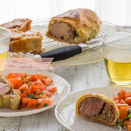 Solomillo Wellington, receta