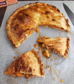 Empanada con mejillones