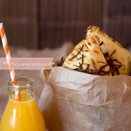 Recetas de empanadas. Empanadillas de jamón y queso