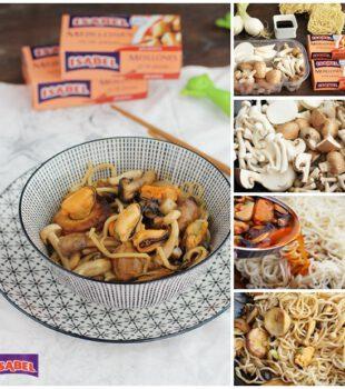 noodles con mejillones