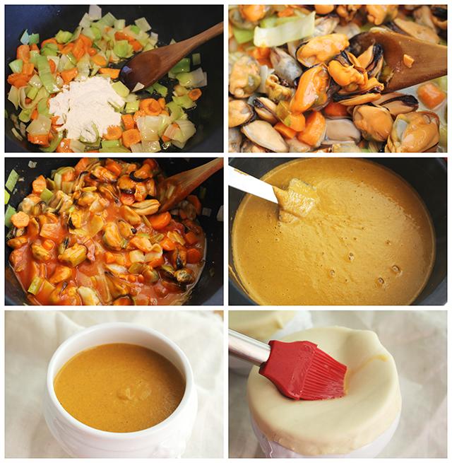 Como hacer crema de mejillones