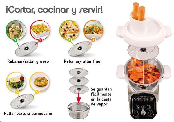 accesorio cortador rallador cuisine companion