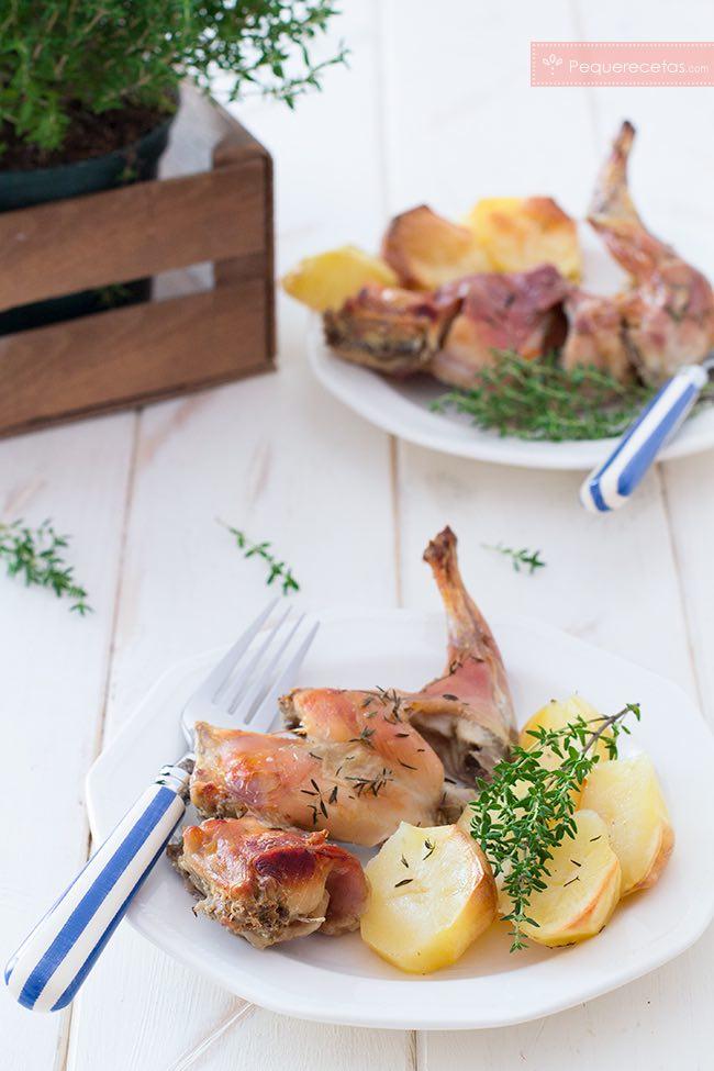 Receta de conejo al horno