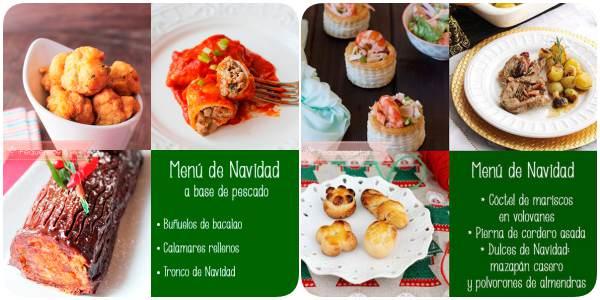 Menú de Navidad y Nochevieja