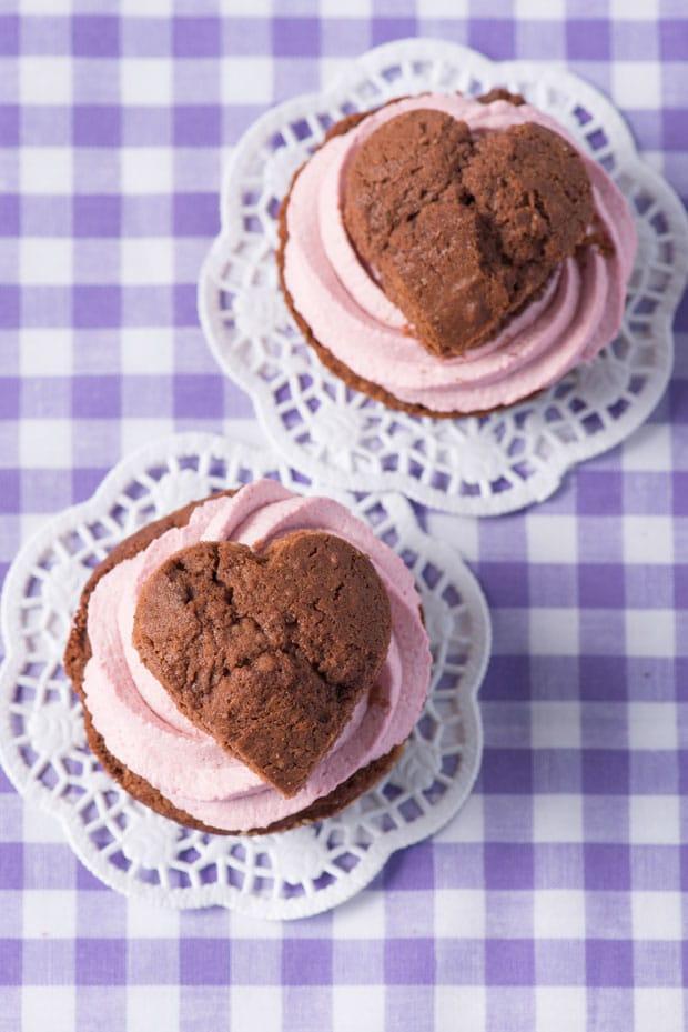 muffins con crema de frambuesa