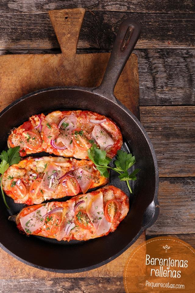 Berenjenas rellenas la receta que te va a conquistar pequerecetas - Berenjenas rellenas al horno ...