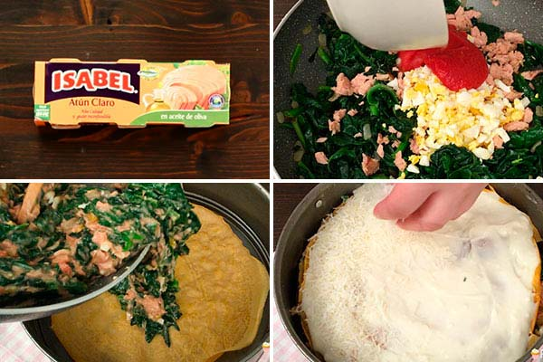 receta lasaña de crepes