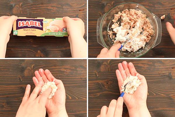 Bolitas de arroz y atún