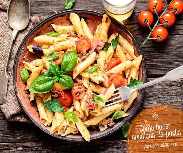 Ensalada de pasta 10 recetas f ciles para sorprender - Como hacer espaguetis al pesto ...