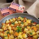 Guiso casero de patatas con Mejillones en Escabeche