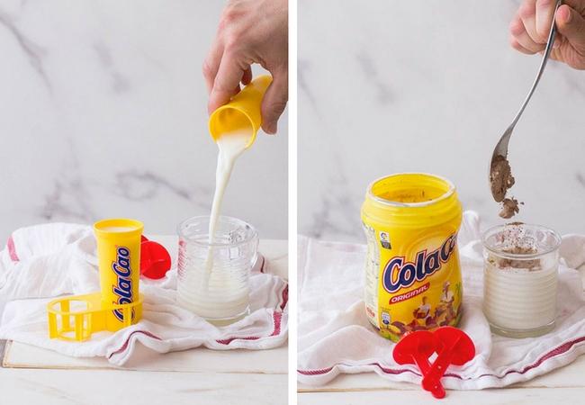 helado cola cao fresas paso a paso