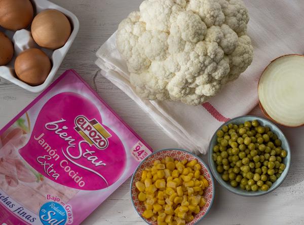 arroz de coliflor ingredientes