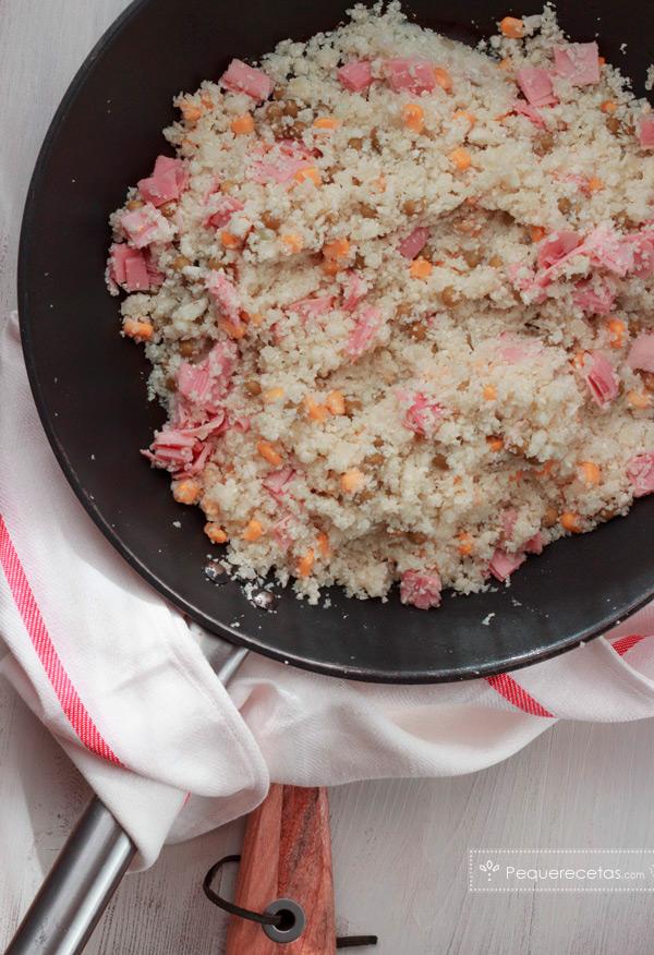 receta arroz de coliflor tres delicias