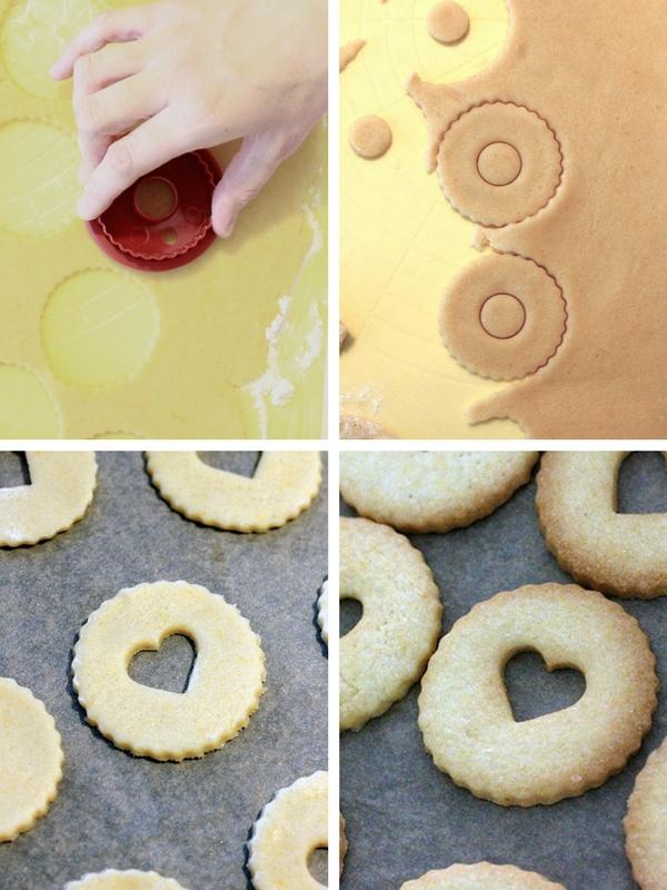 receta galletas linzer mermelada