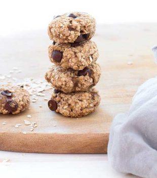 galletas de avena y platano receta