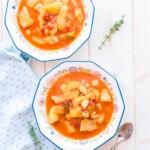 Cómo hacer sepia con patatas (papas con choco), receta tradicional