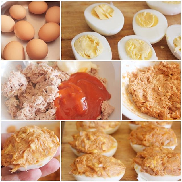 Cómo preparar huevos rellenos