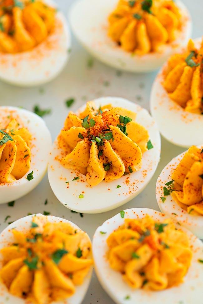 huevos rellenos receta