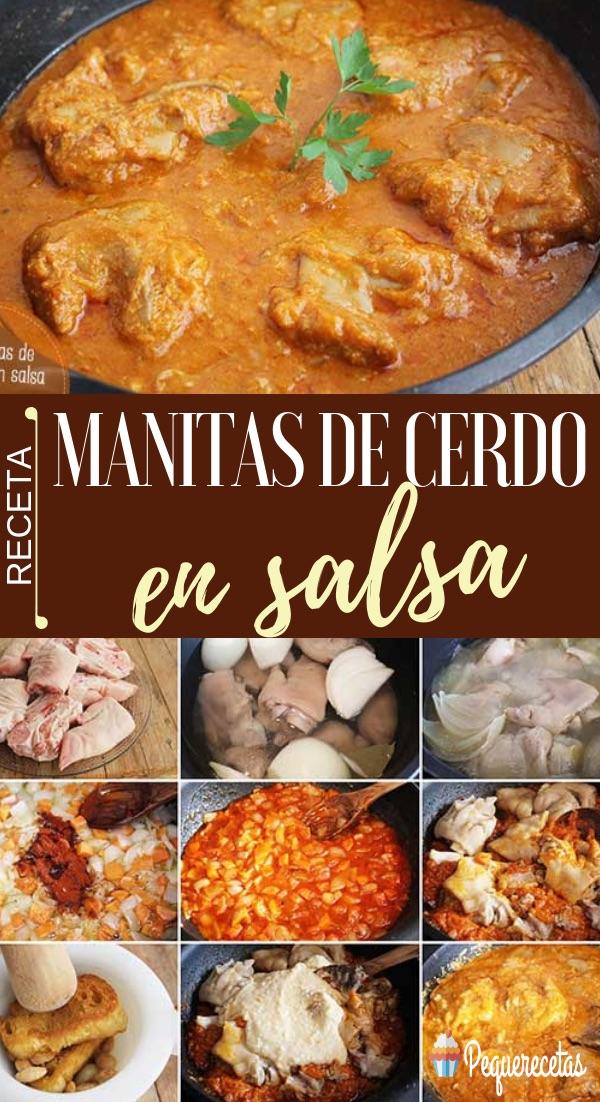Receta manitas de cerdo en salsa