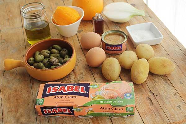 ingredientes ensalada malagueña