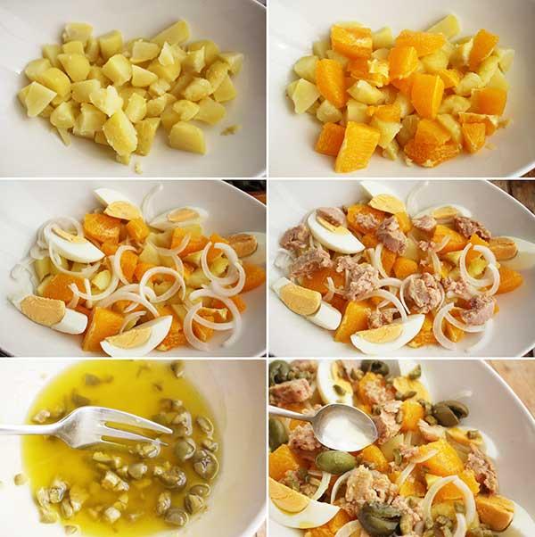 como hacer ensalada malagueña