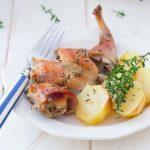 conejo al horno receta