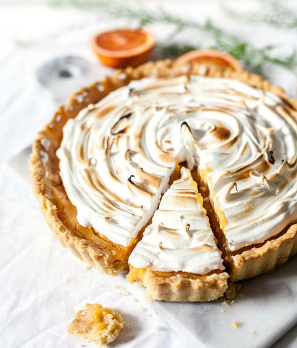 tarta de merengue con lemon curd